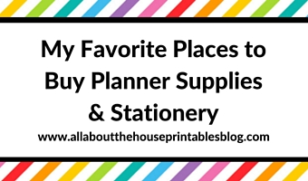 my favorite places to buy planner supplies and stationery