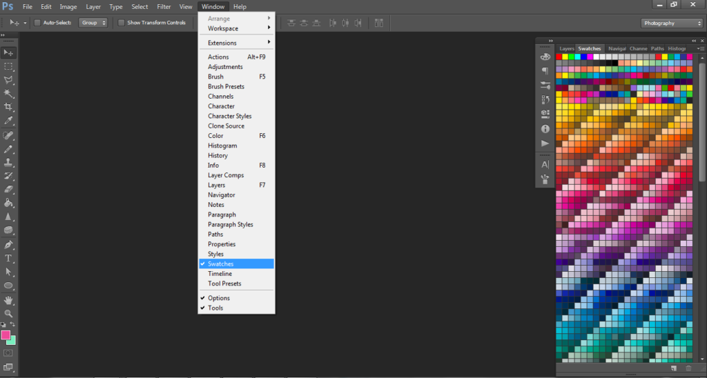 photoshop's swatches menu, color picker, how to choose colors, photoshop for beginners, pattern design, graphic design, textile design
