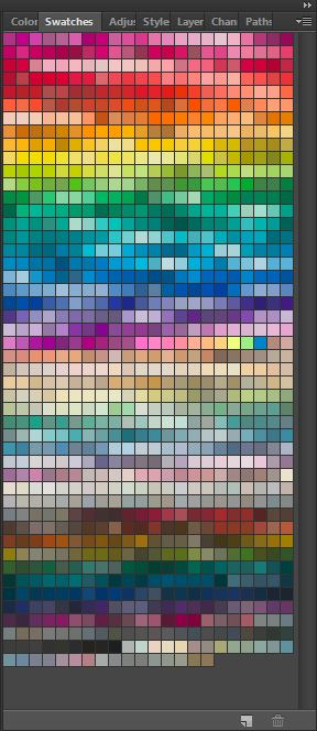 toyo 94 color scheme photoshop rainbow color swatches how to use photoshop color menu beginner ecourse pattern design