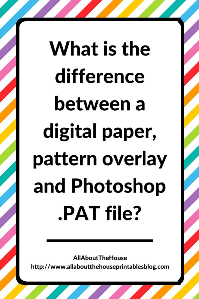 what is the difference between a digital paper, pattern overlay and a photoshop pat file, seamless repeating pattern textile psd