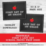 FREE Printable Photo Prop Grade Signs for Back to School (first & last day signs for all grade levels)