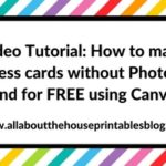 Video Tutorial: How to make business cards without Photoshop and for FREE using Canva