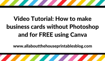 Video Tutorial How to make business cards without Photoshop and for FREE using Canva