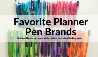 favorite planner pen brands review planner accessories color code your planner inkjoy pilot frixion triplus papermate flair