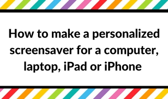 How to make a personalised screensaver/computer or laptop wallpaper/desktop background