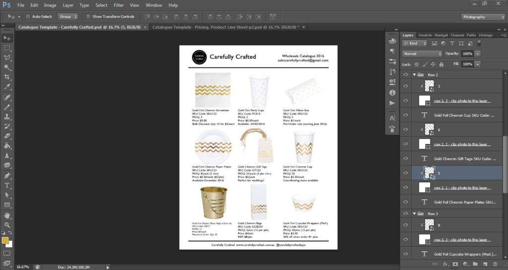 how to make a product catalogue line sheet for your business