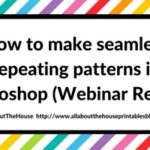 How to make seamless repeating patterns in Photoshop (Webinar Replay)