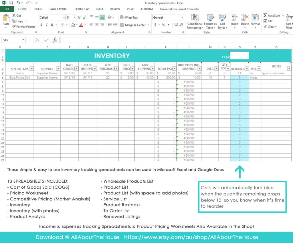 my simple and easy method for tracking product inventory using excel