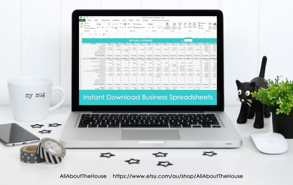 Simple spreadsheets to keep track of business income and expenses ...