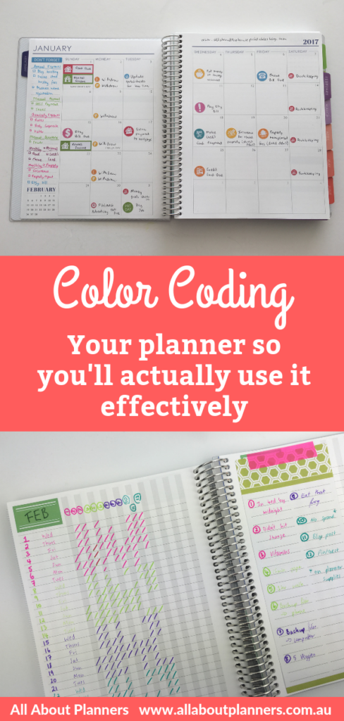 color coding your planner so you'll actually use it effectively tips ideas for getting the most out of your planner