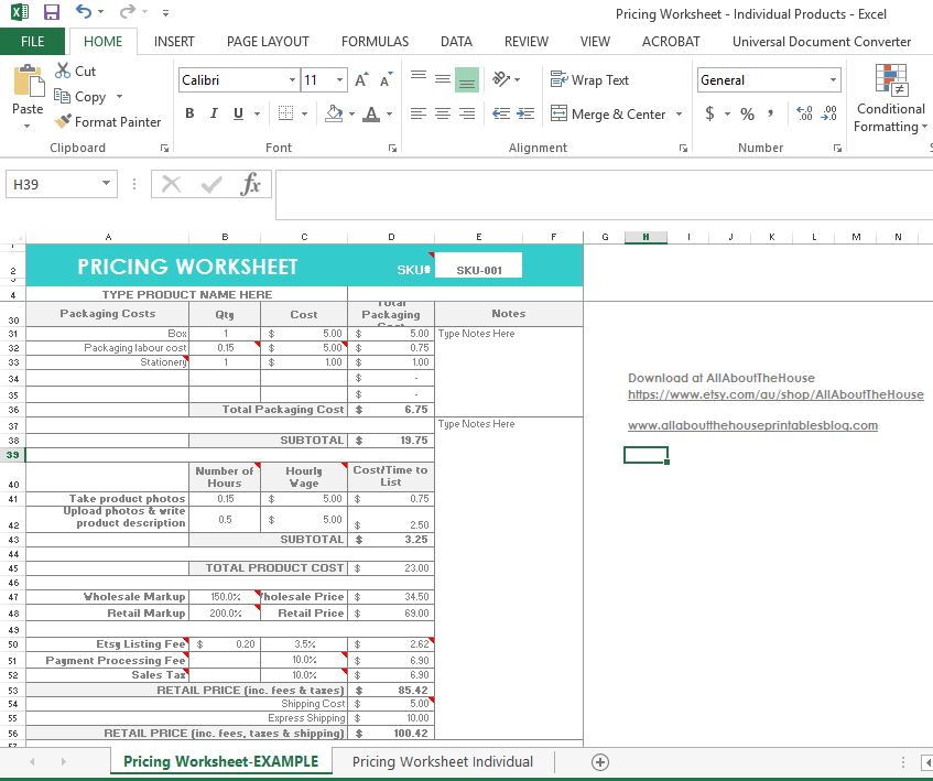 Pricing Tool: How To Price Your Products (plus A Pricing Calculator