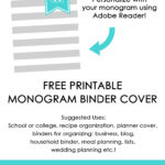 Ways to organize using binder covers (plus a FREE printable monogram binder cover)