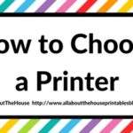 How to Choose a Printer (Including the best printer for printing printables and planner stickers)