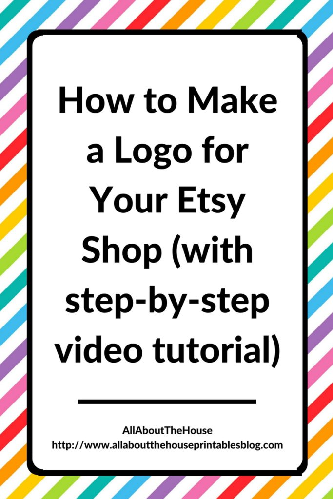 how to make a logo for your etsy shop branding marketing promote step by step video tutorial photoshop