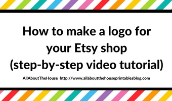 How to make a logo for your Etsy shop (with step by step video tutorial)