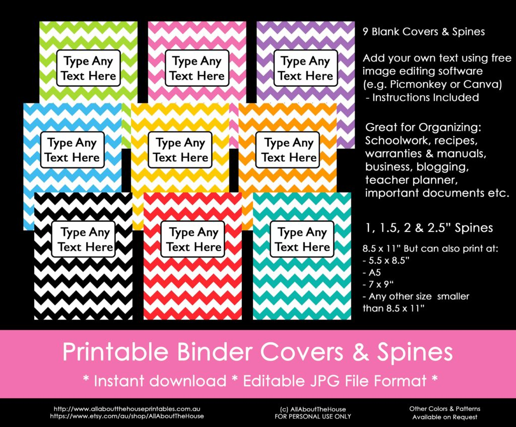 photo regarding Binder Inserts Printable named Strategies towards prepare working with binder handles (furthermore a Free of charge printable