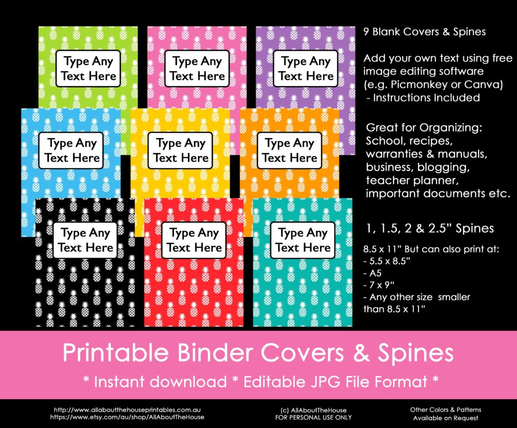 image about Free Printable Binder Covers and Spines named Methods towards arrange working with binder addresses (as well as a Absolutely free printable