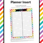 FREE Printable To Do Checklist Planner Insert (For Erin Condren or Any Planner)