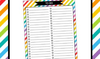 FREE Printable To Do Checklist Planner Insert (For Erin Condren or Any Planner)