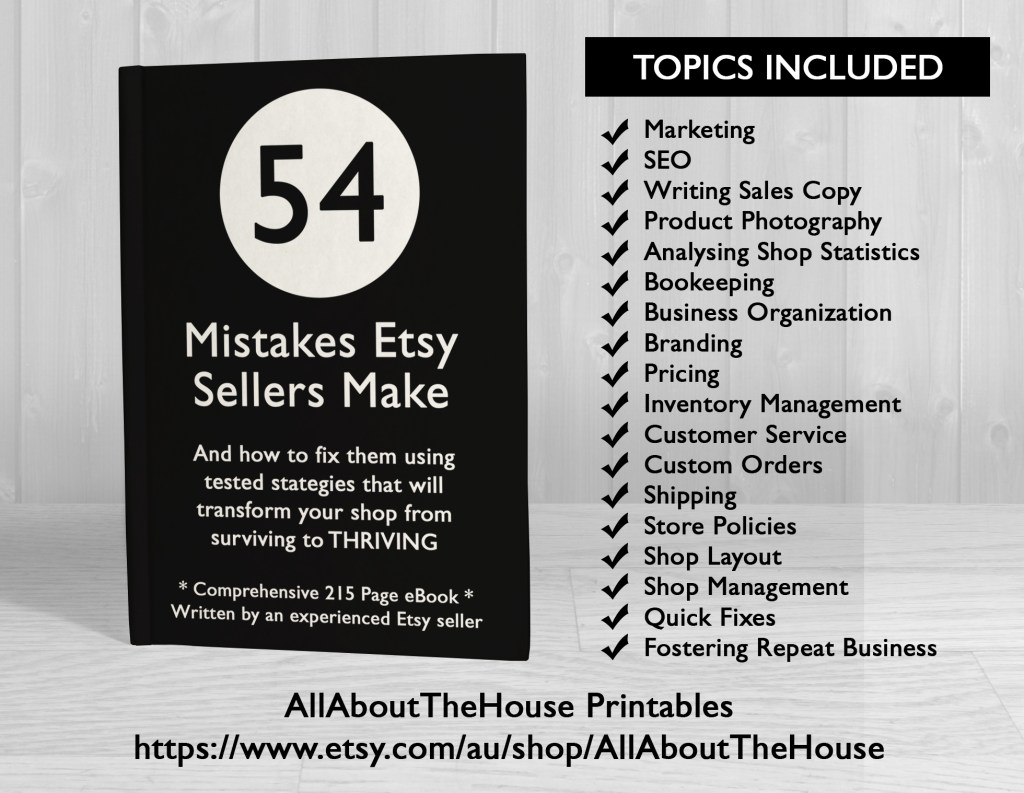 etsy seller ebook, how to increase sales, seo, marketing, bookkeeping, how to make 6 figures on etsy, ebook, tool