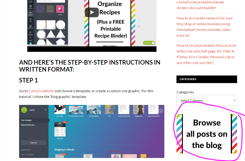 how to make blog graphics, improve blog navigation