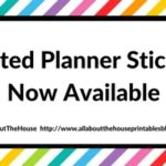 Printed planner stickers are now available!