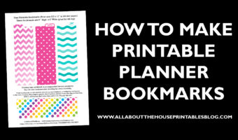 How to make a planner bookmark (DIY Page Markers Tutorial)