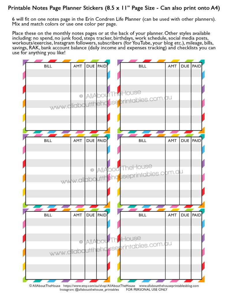 photograph regarding Printable Planner Inserts named How in the direction of deliver planner printables (suggestions towards a planner addict