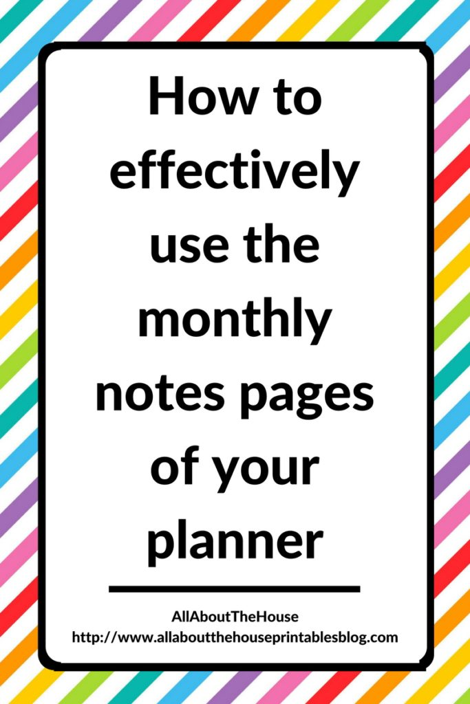 how-to-use-the-monthly-notes-pages-of-your-planner-effectively-printable-insert-list-rak-diy-routine-cleaning