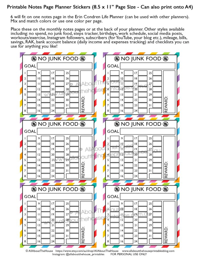 no-junk-food-planner-stickers-printable-rainbow-erin-condren-daily-habit-tracker-healthy-eating-takeaways-meal-planning-1-min