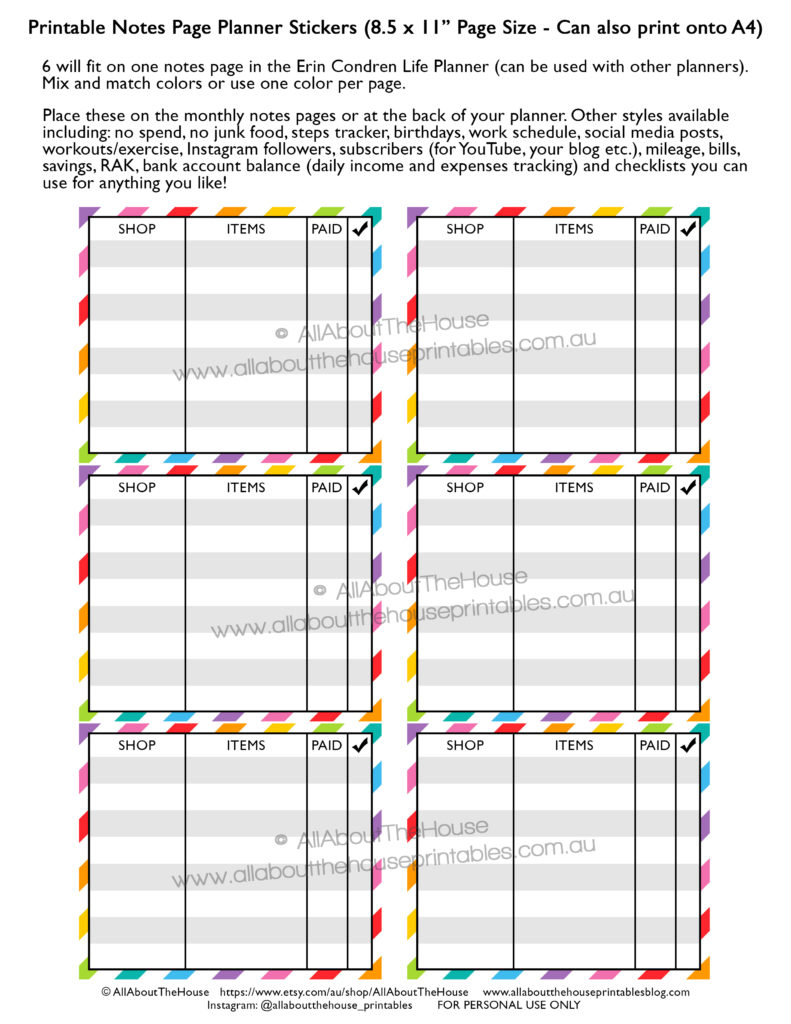 online-shopping-purchases-tracker-printable-planner-stickers-rainbow-happy-mail-erin-condren-monthly-notes-page