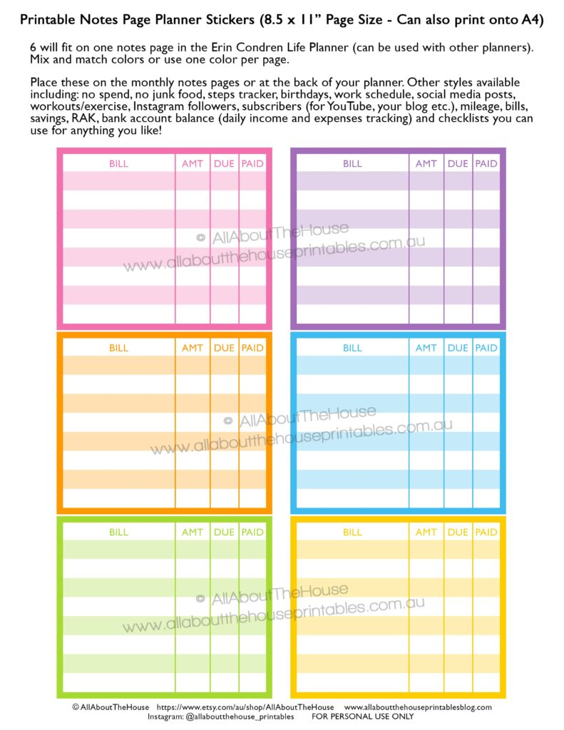 printable-notes-page-planner-stickers-bill-due-tile-diy-rainbow-erin-condren-life-planner-vertical-horizontal-hourly-planner-accessory-plum-paper-mambi-happy-planner-min