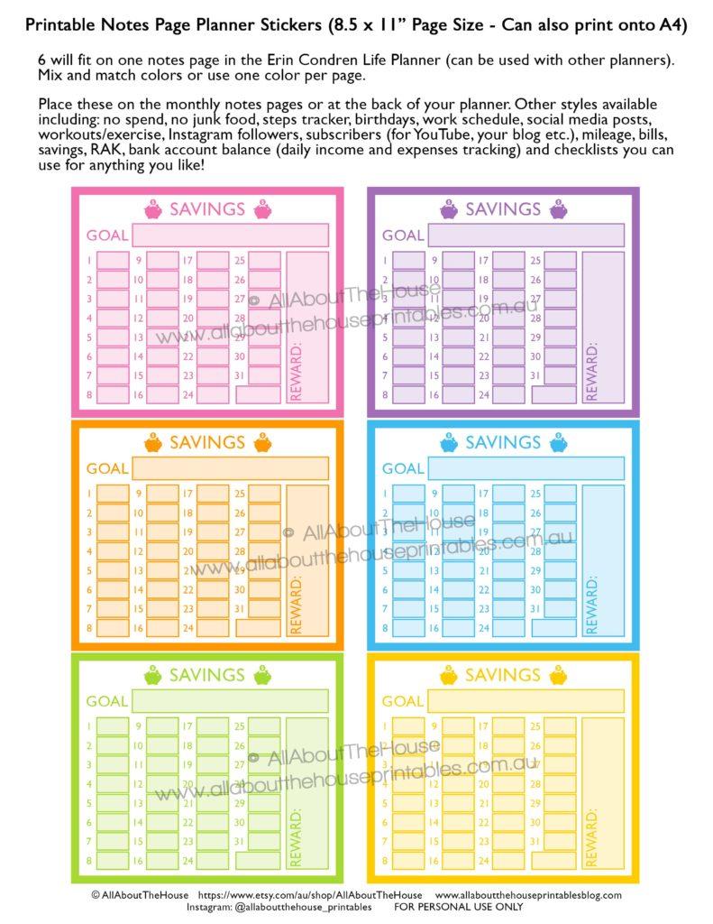 savings-tracker-planner-stickers-printable-money-goal-budget-spending-erin-condren-eclp-vertical-hourly-horizontal-happy-planner-finance-min
