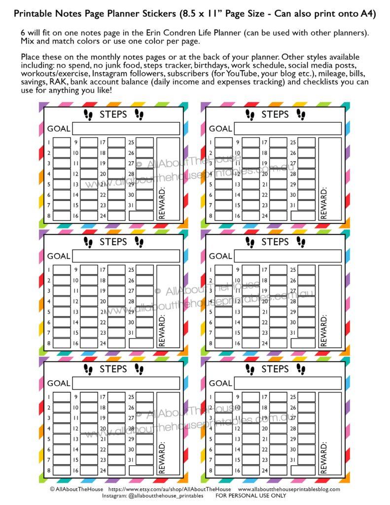 steps-planner-sticker-printable-erin-condren-vertical-life-planner-eclp-fitness-health-exercise-routine-run-min