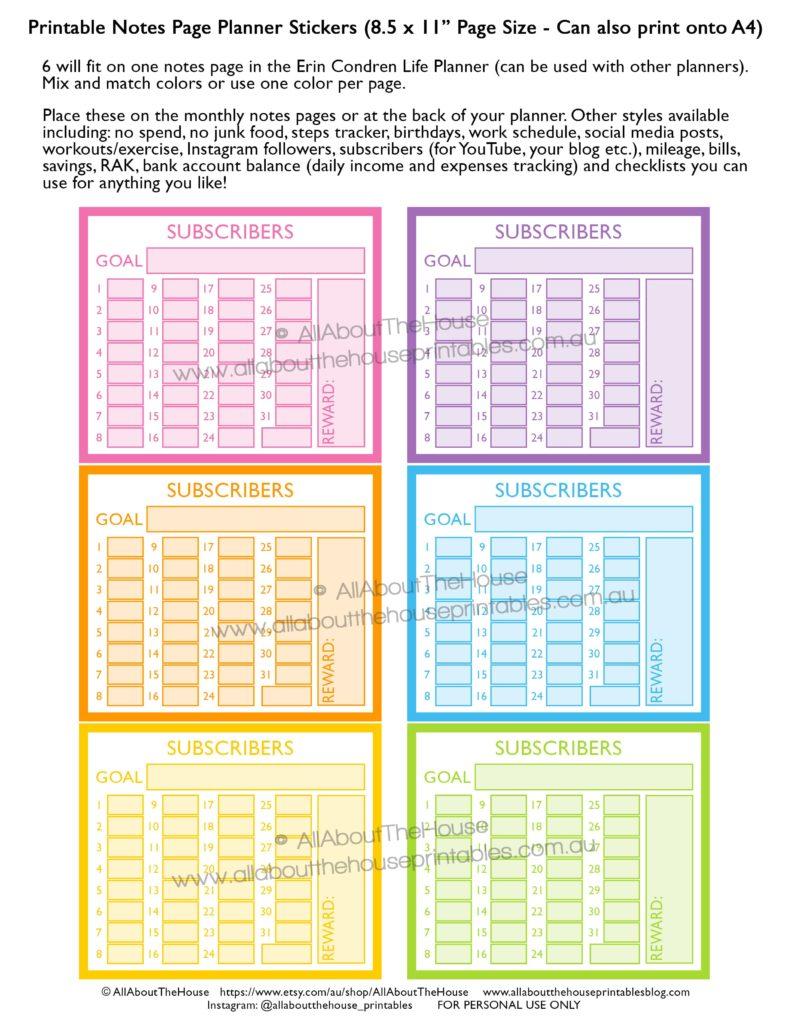 subscribers-growth-tracker-youtube-social-media-blog-newsletter-business-planner-stickers-printable-rainbow-erin-condren-min