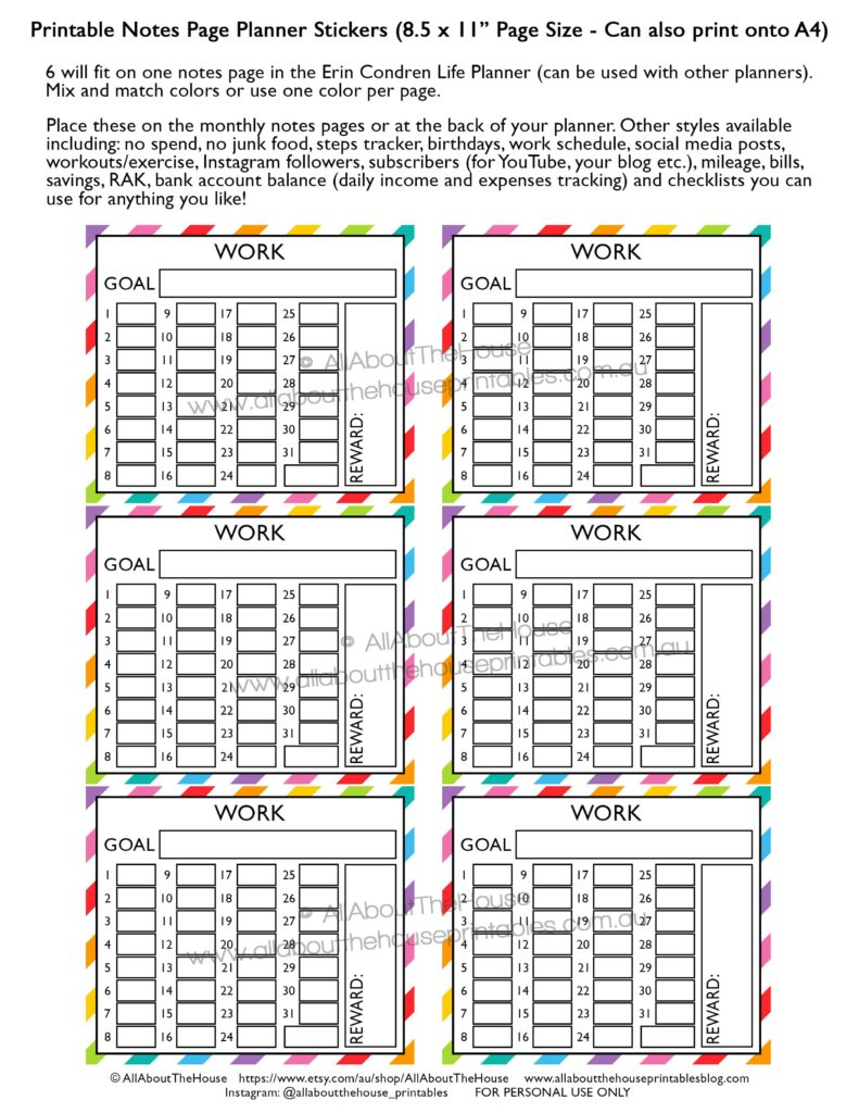image relating to Printable Note Pages called How toward seek the services of the month to month notes webpages of your planner - All