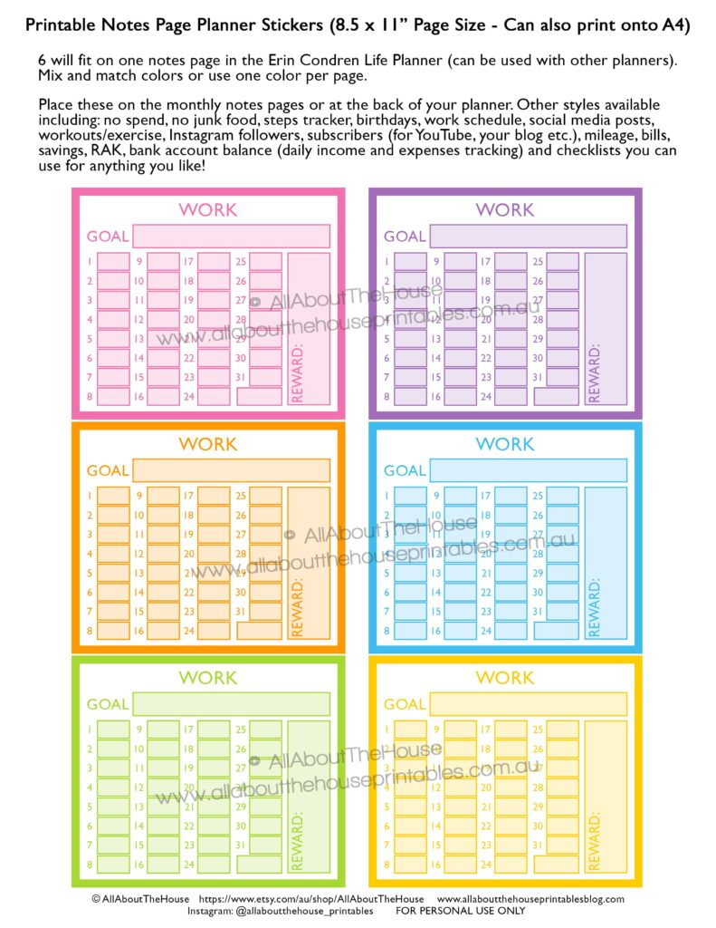 photograph about Printable Notes Page known as How towards seek the services of the month to month notes internet pages of your planner - All