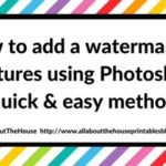How to add a watermark to pictures using Photoshop (quick & easy method)