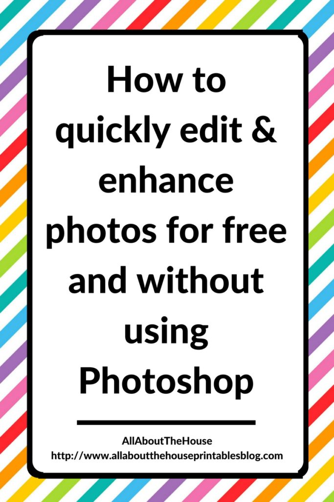 How to quickly edit and enhance photos for free and without using Photoshop, improve product photography