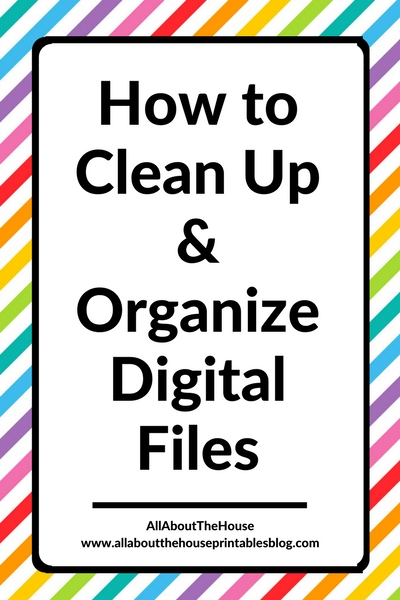 how to clean and organize digital files computer files photos business graphic design tips recycle bin make computer run faster