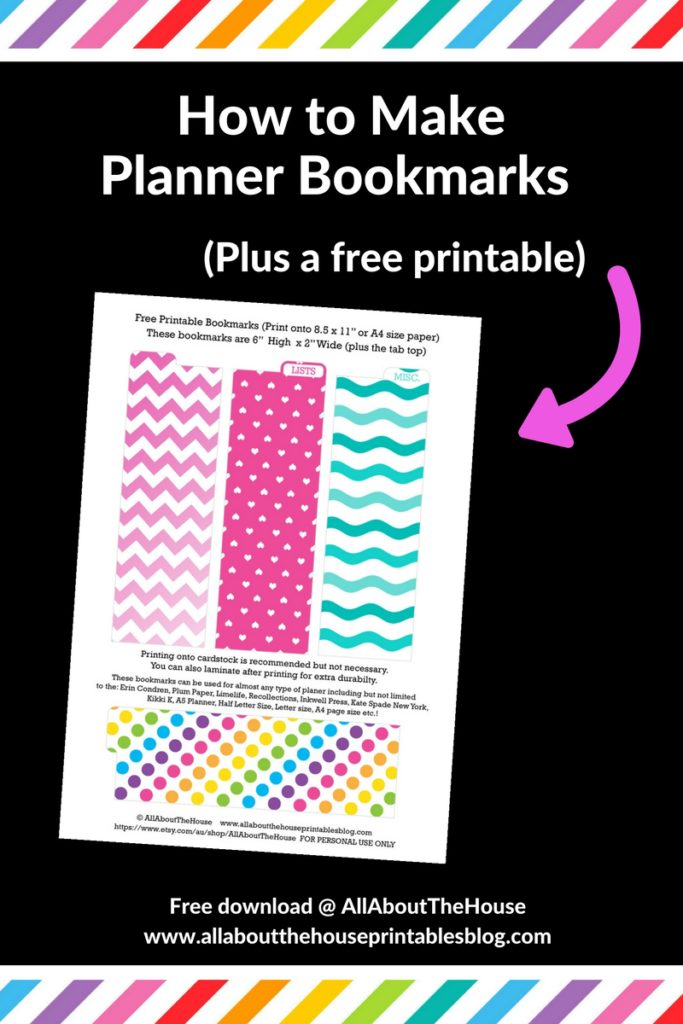 How to make a planner bookmark diy page markers tutorial for Create planner online