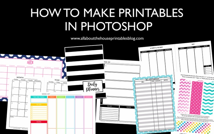how to make printables in photoshop ecourse promo image
