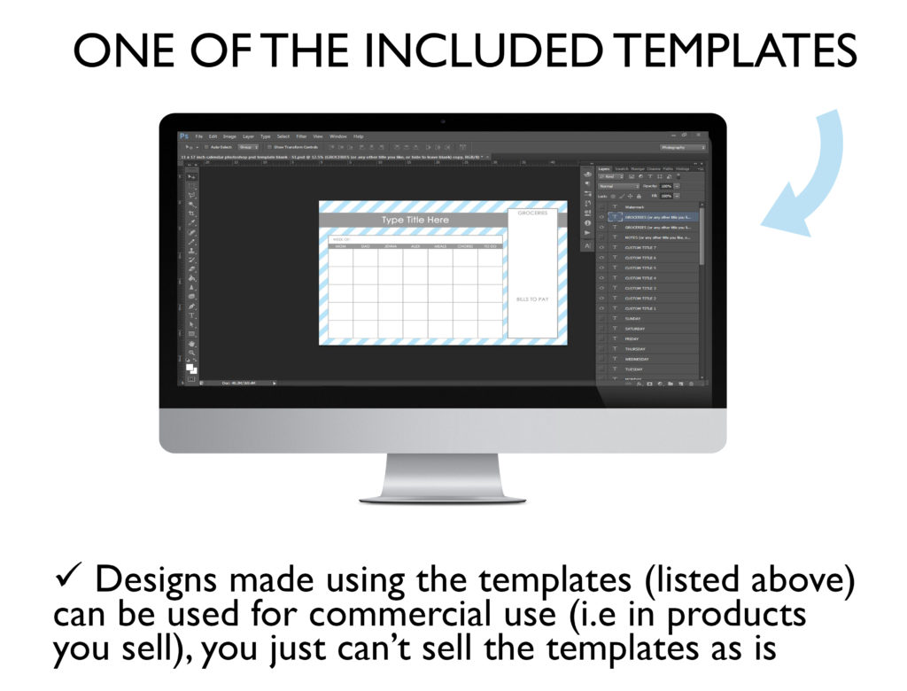 how to make printables tutorial calendar template photoshop commercial use download editable pdf planner diy insert