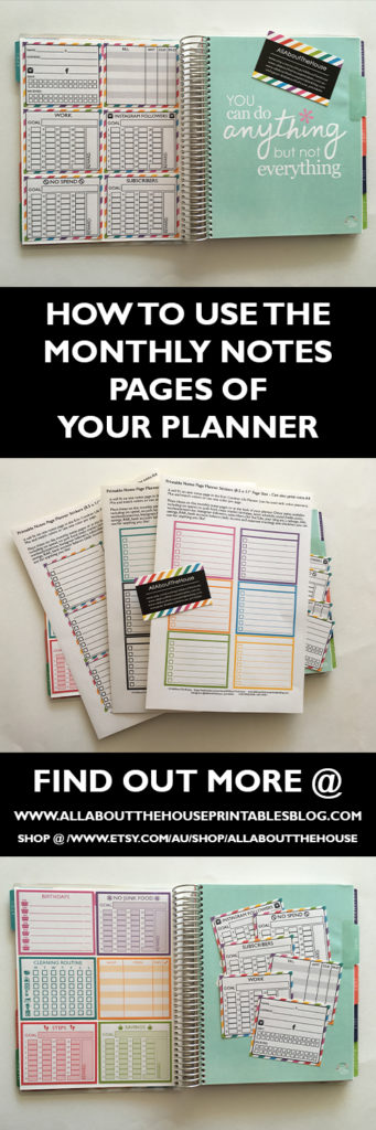how to use the monthly notes pages of your planner, erin condren, plum paper, kikki k, blank note paper, lined, extra pages, how to use a planner effectively, how to plan