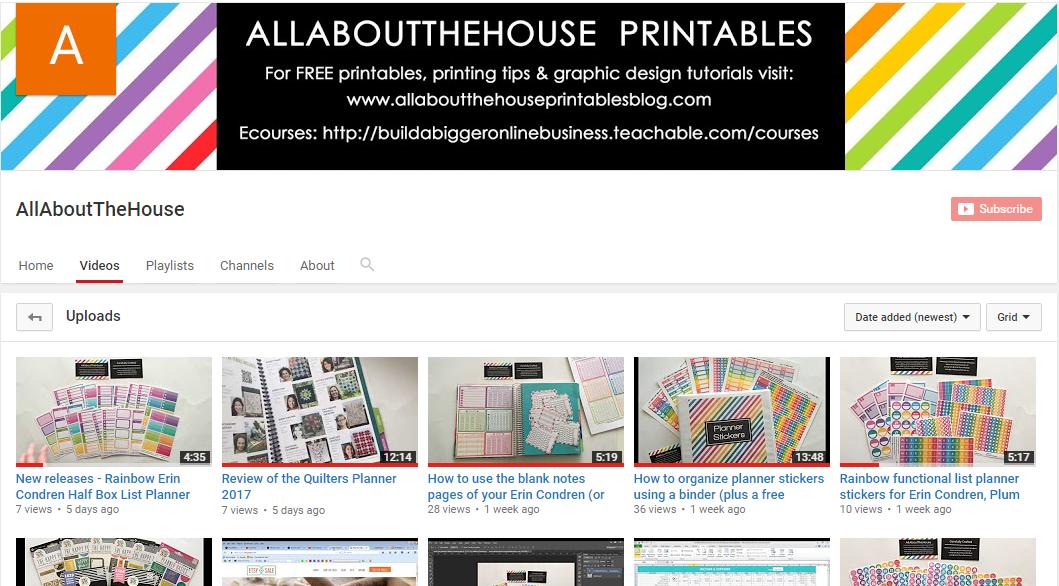 graphic design tutorials, photoshop tutorials, planner sticker haul, stationery, youtube, etsy seller advice