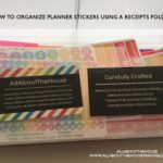How to organize and store small planner stickers using a receipts folders