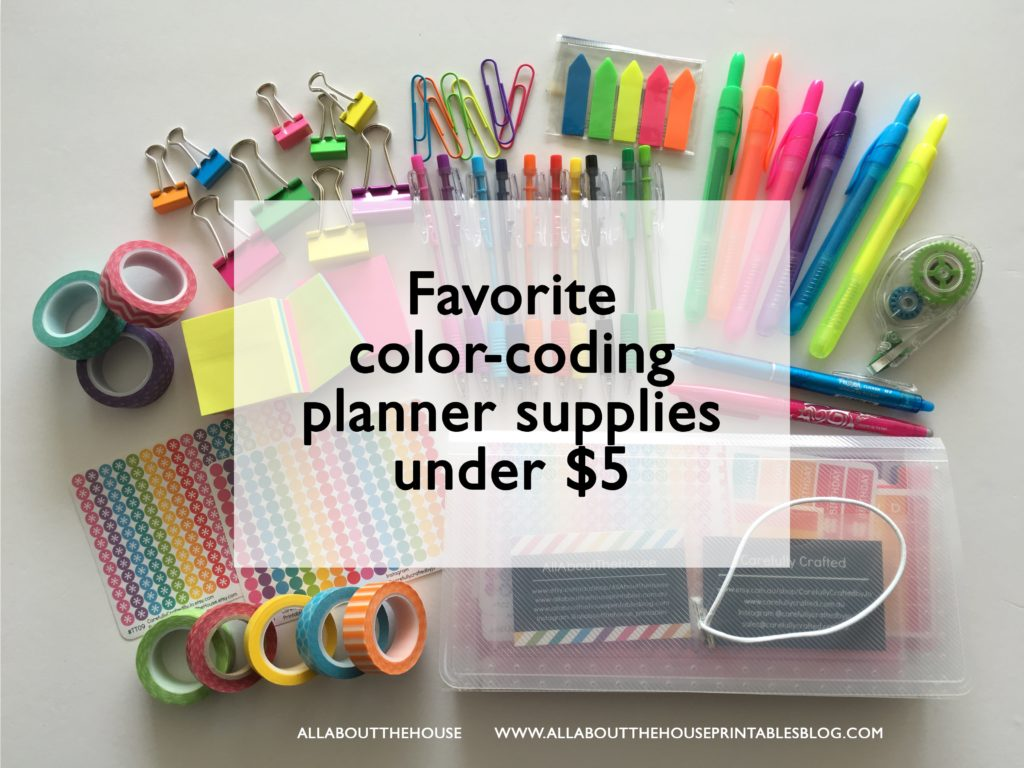 picture relating to Planner Supplies referred to as Beloved shade coding planner components less than $5 - All Pertaining to