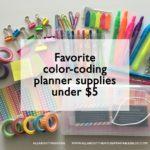 Favorite color coding planner supplies under $5