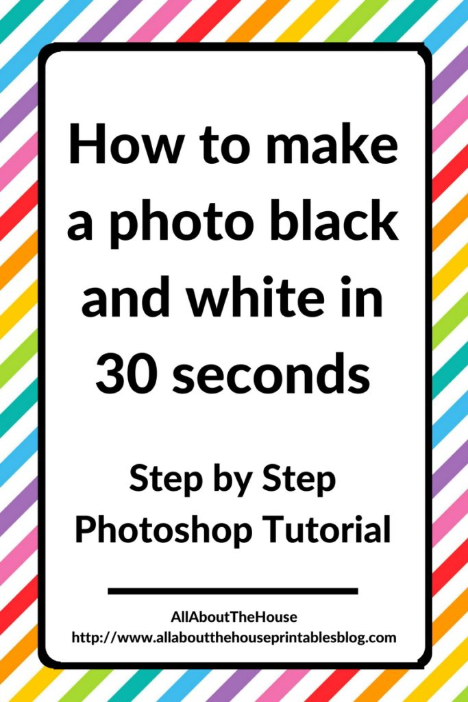 how to make a photo black and white in 30 seconds in photoshop step by step tutorial video