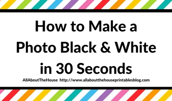 How to make a photo black and white in 30 seconds